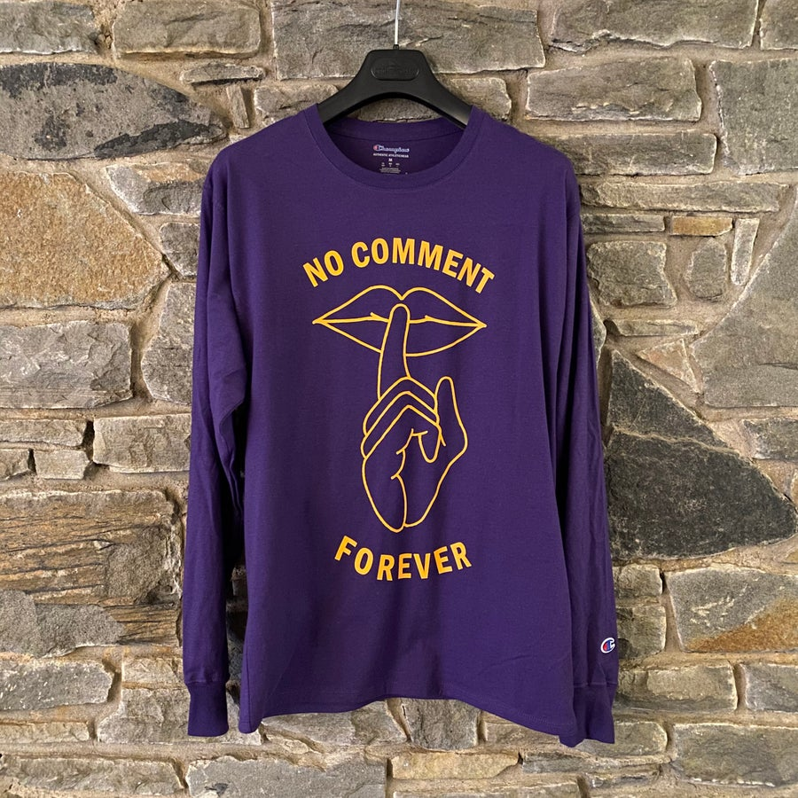 Image of No Comment Forever - Champion Long Sleeve Purple