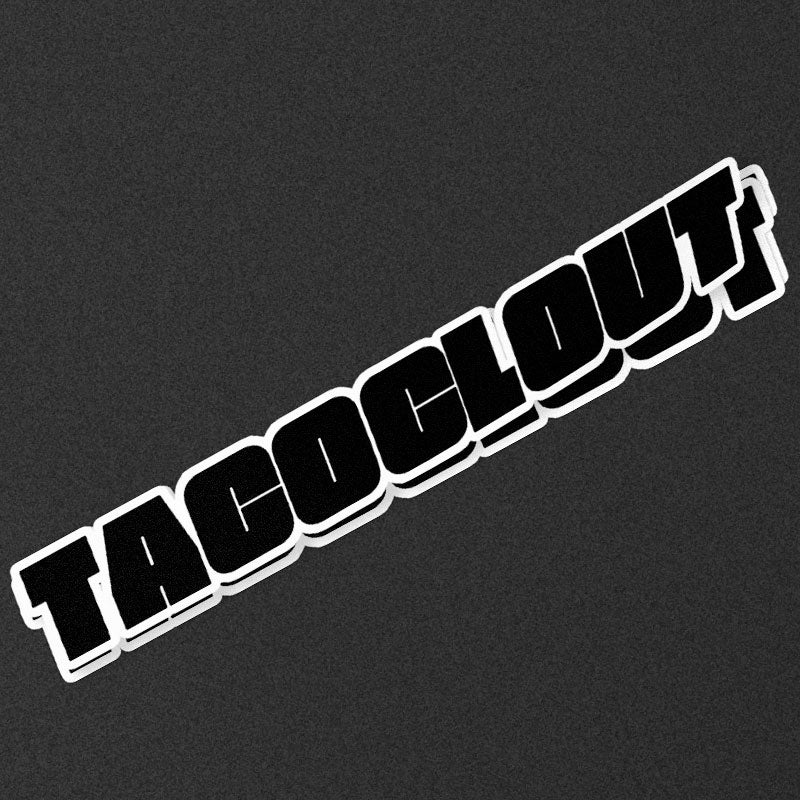 """Image of TACO CLOUT 8"""" Die Cut Stickers"""