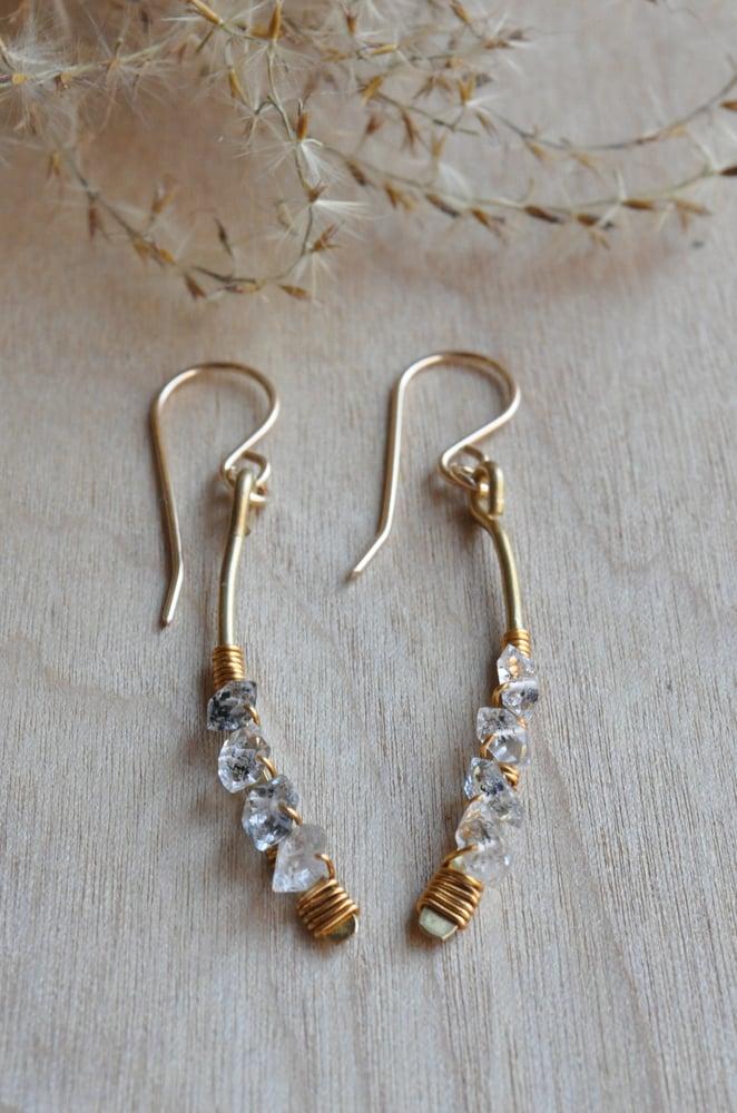 Image of Herkimer Diamond Arc Dangles