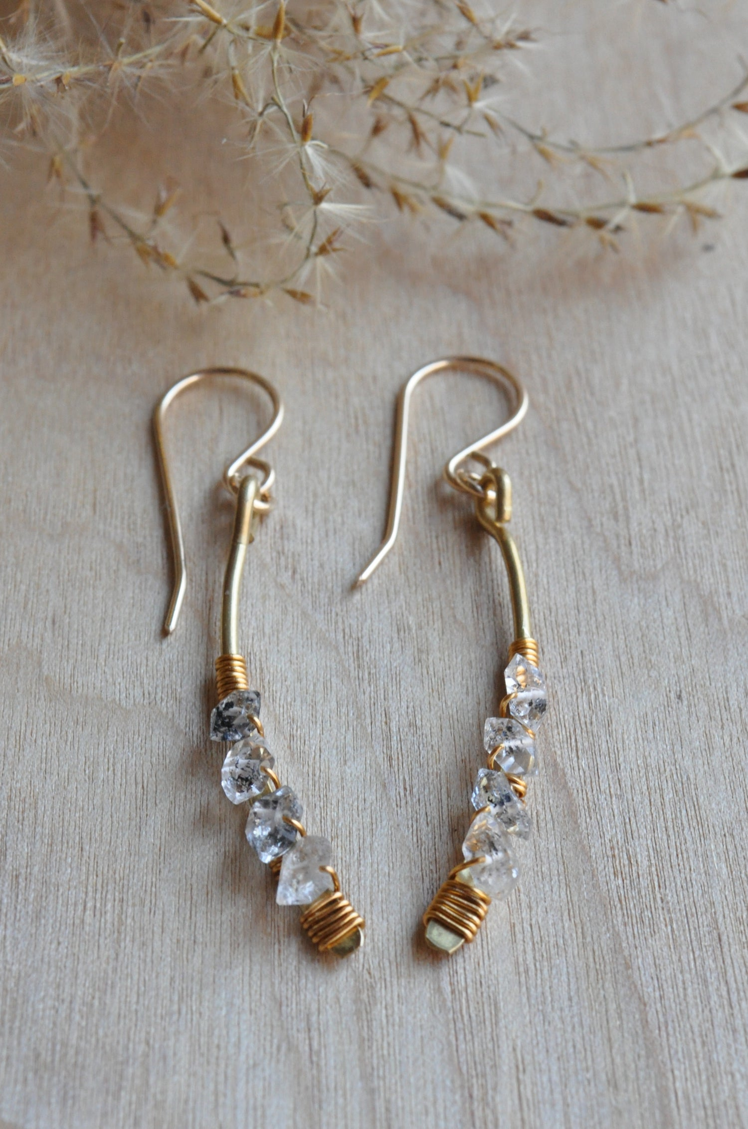 Image of Herkimer Diamond Arc Dangles