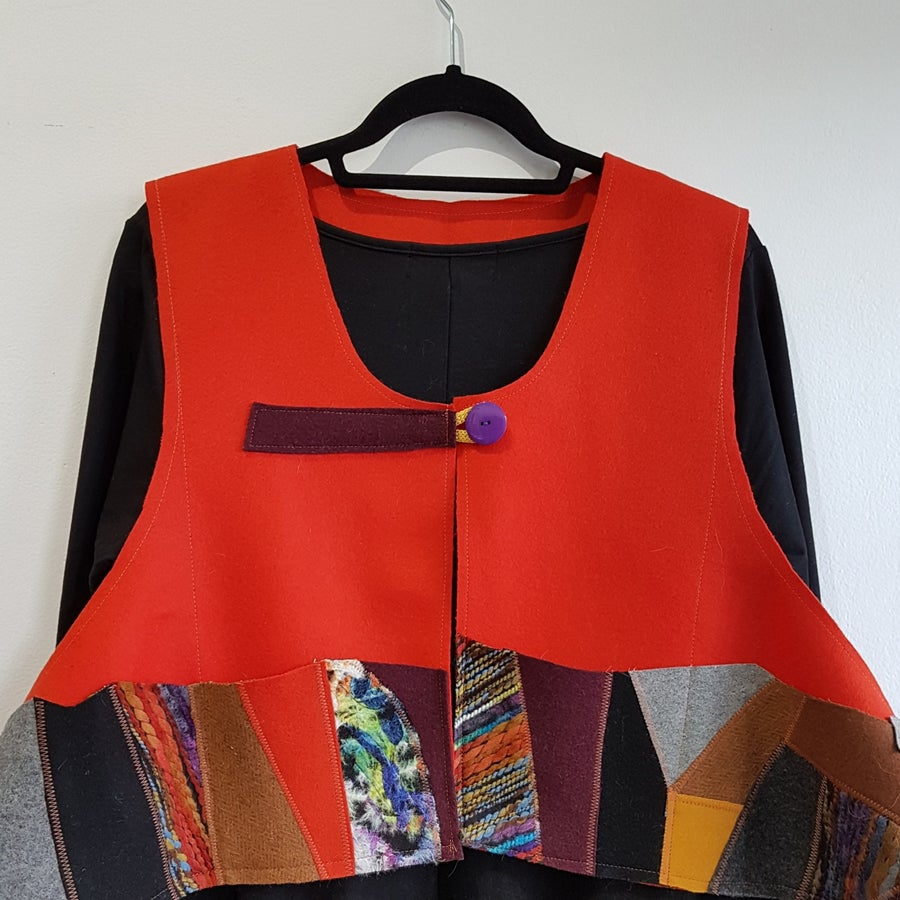 Image of JAZZ collage vest...extra large