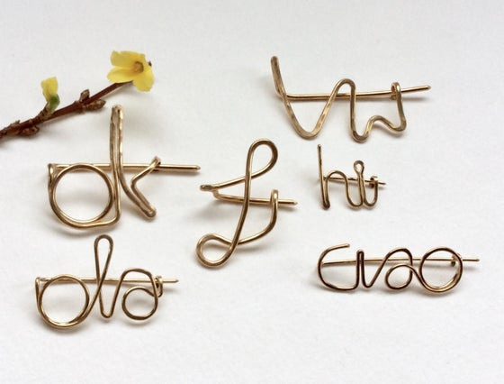 Image of Customized word pin