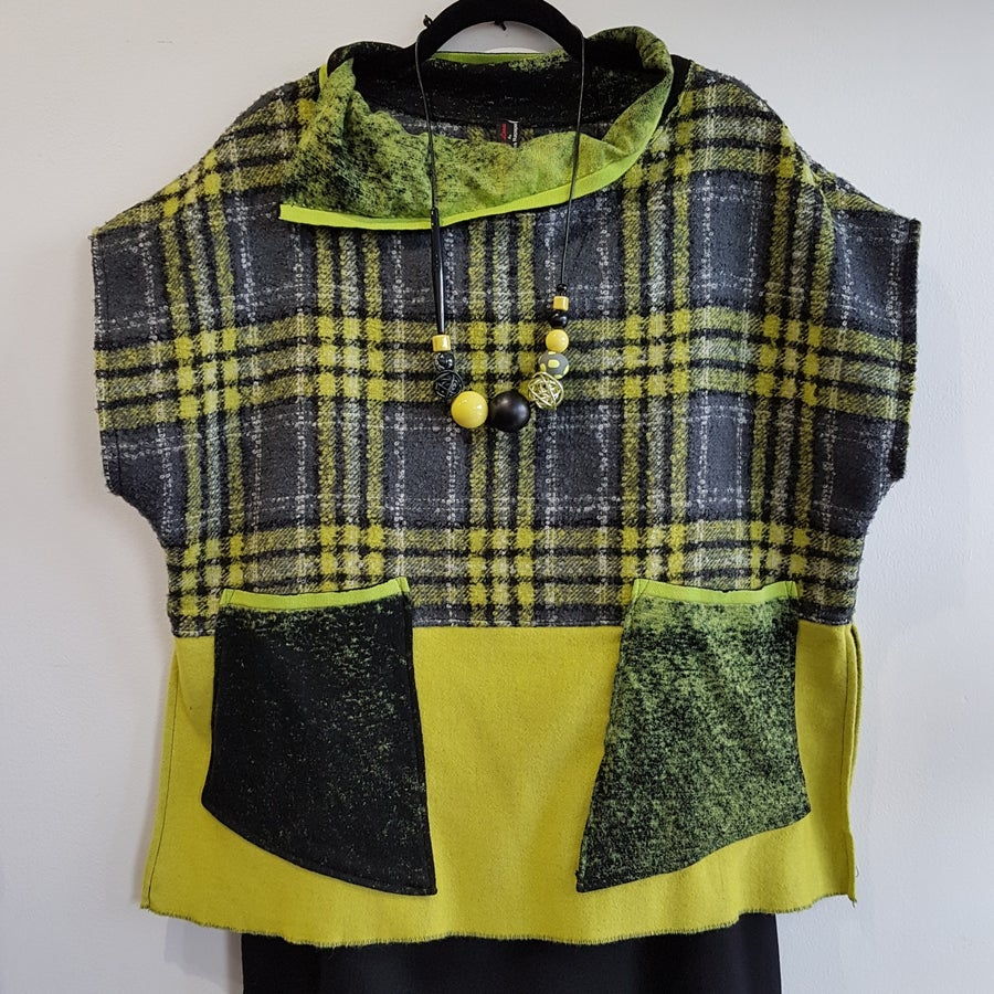 Image of boxy collage top