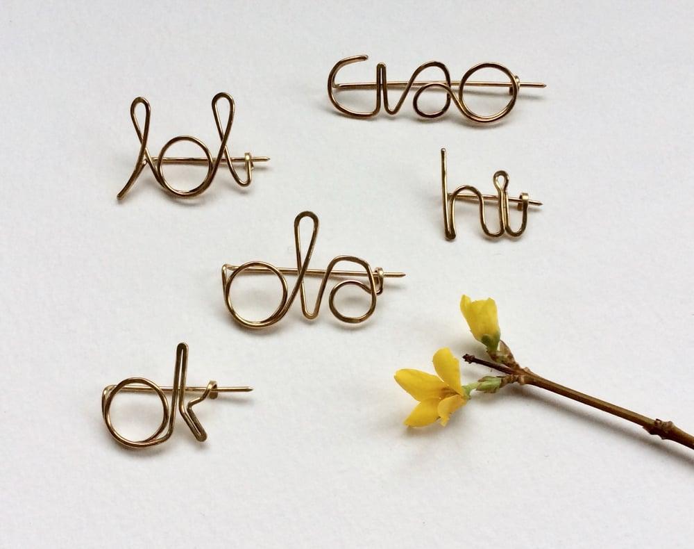Image of Play word pin