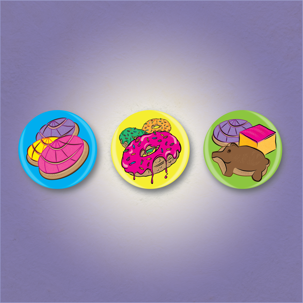 Pan Dulce Button Set
