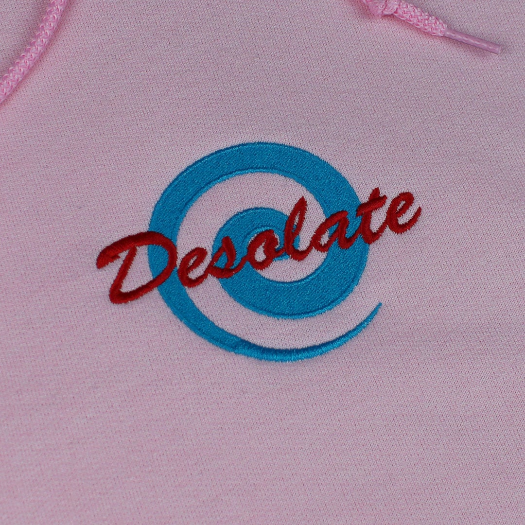 Image of Embroidered Logo Hoodie (Pastel Pink)