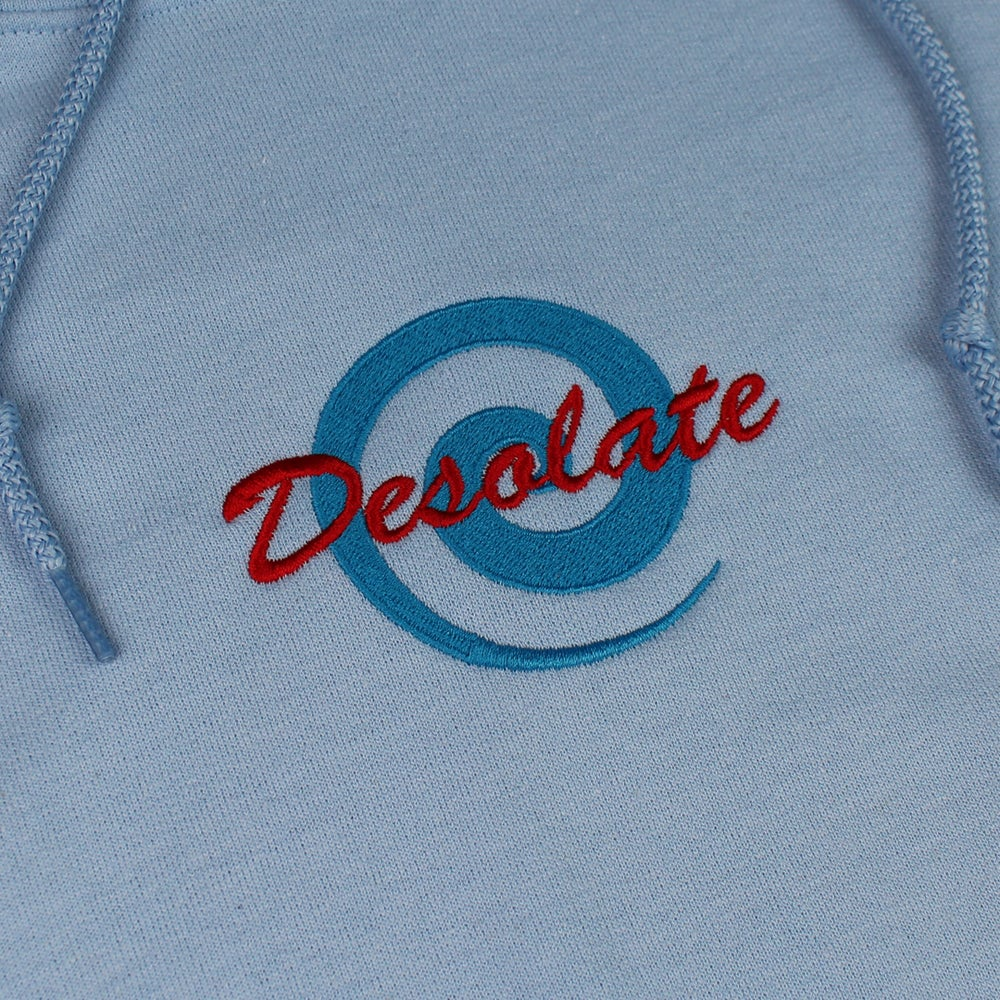 Image of Embroidered Logo Hoodie (Pastel Blue)