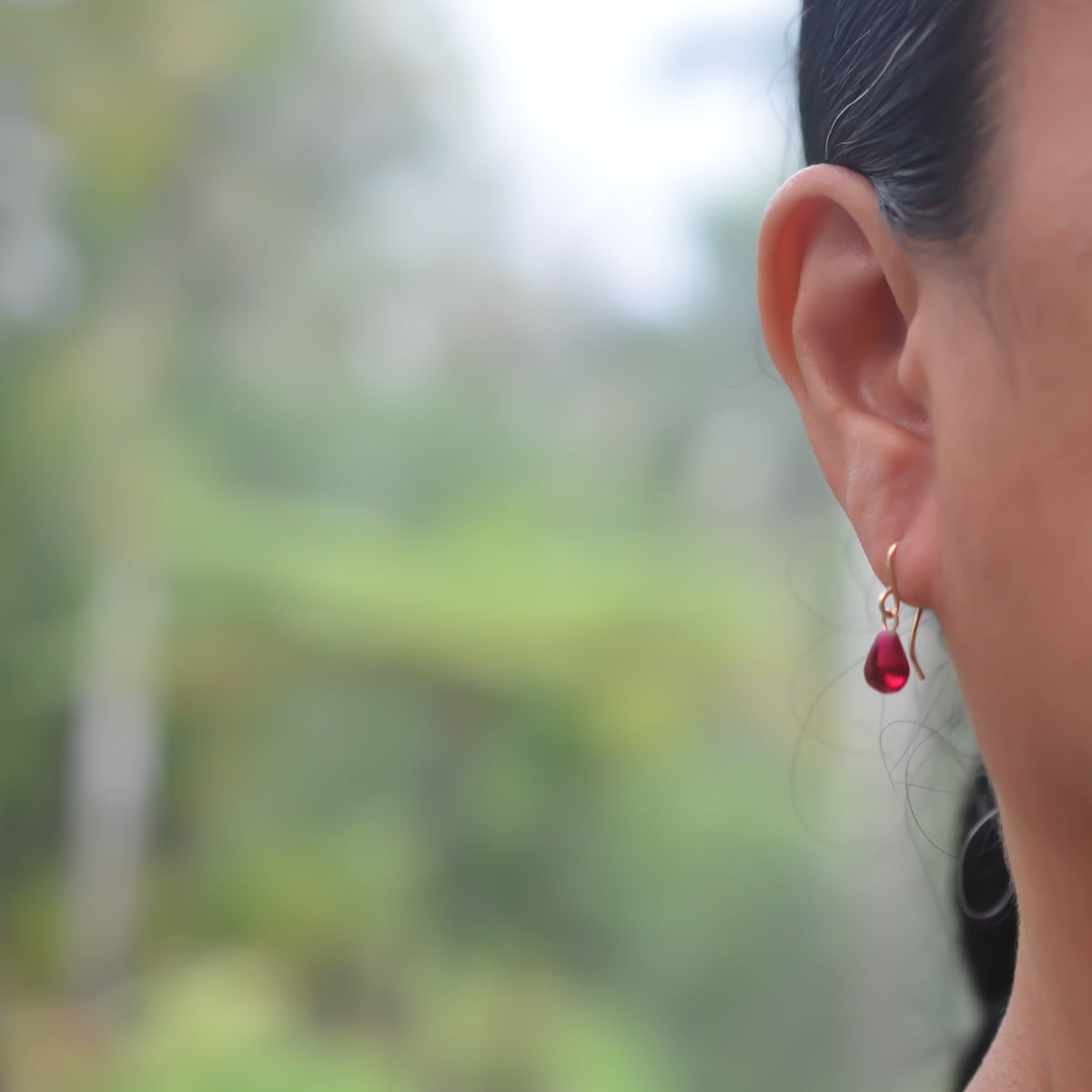 Image of Tiny Pomegranate Seed Earrings