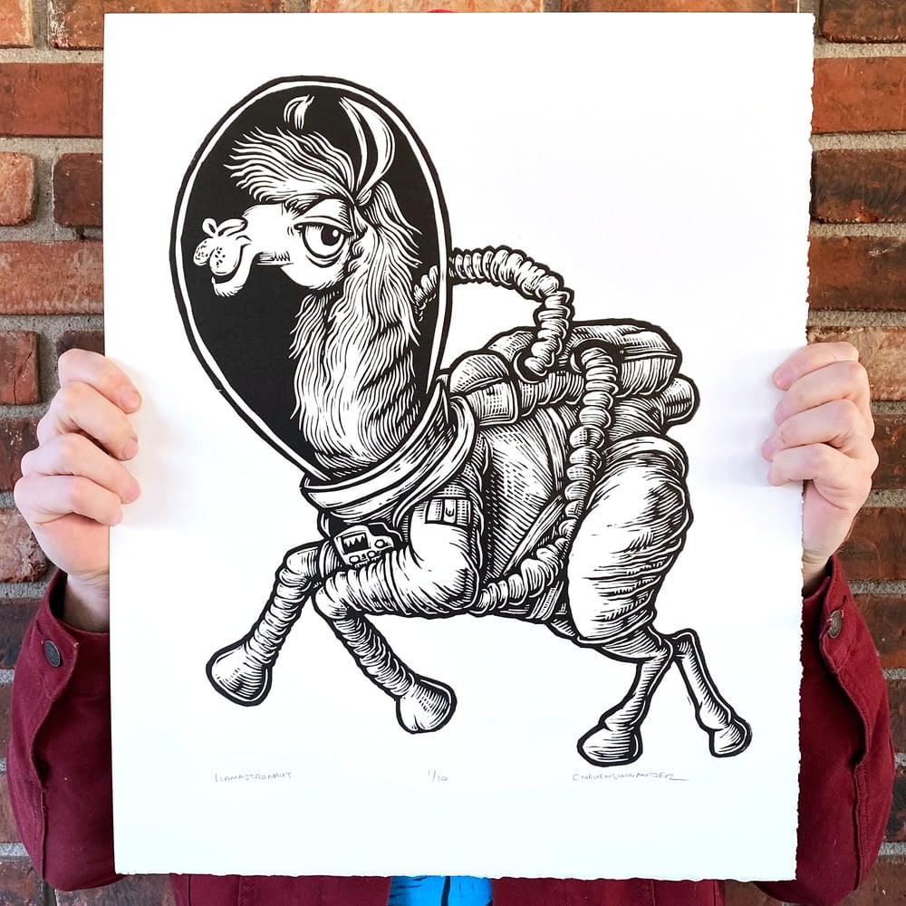 Llamastronaut Print