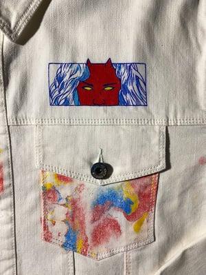 Image of Devilish marbled denim jacket