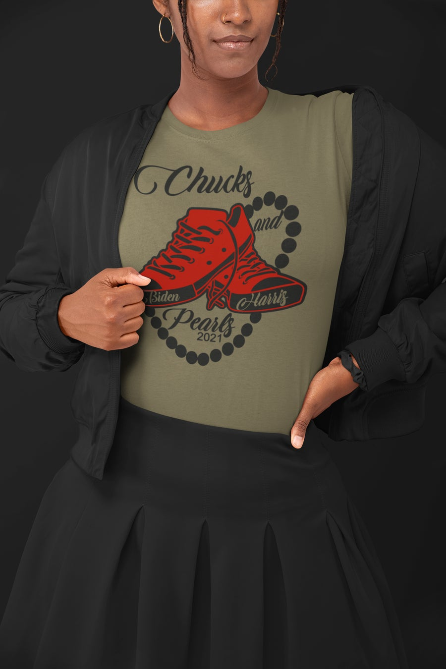 Image of Chucks and Pearls (Red)