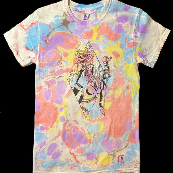 Image of 'Scorpion Blade of the Rose Mystic' marbled tee