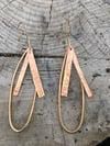 Mixed Texture Teardrop Brass Earrings (Long)