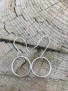Sweet Silver Circle Earrings