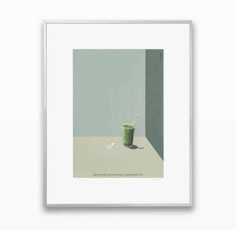 Image of Benzoylmethylecgonine and Green Smoothie - FRAMED PRINT - Blake Dunlop