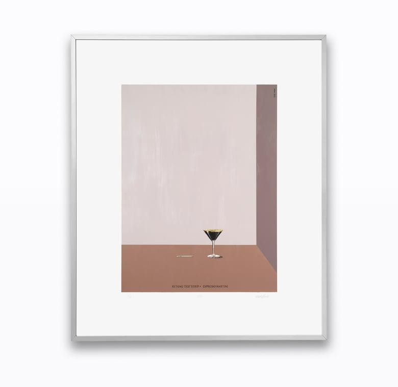 Image of  Ketone Test Strip and Espresso Martini - FRAMED PRINT - Blake Dunlop