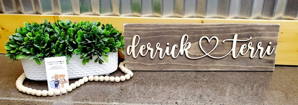 Image of 3D Couples Sign