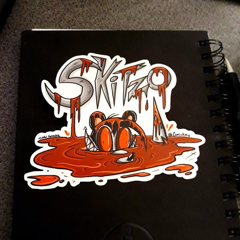 Blood Bath -Skitzo Sticker