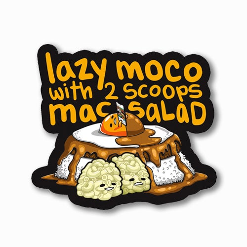 Image of Lazy Moco [with Text] Sticker