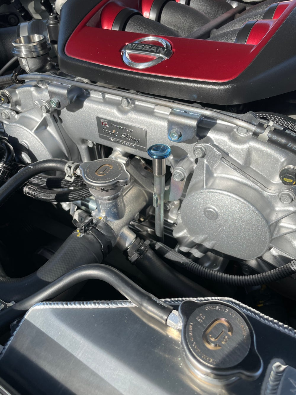 Nissan GTR, 370z, G37 dual radiator cap set.