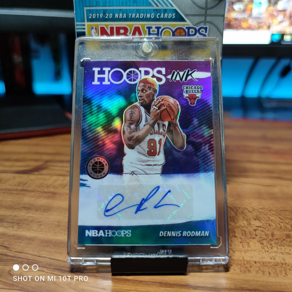 Image of Dennis rodman Auto hoops ink 2019-2020