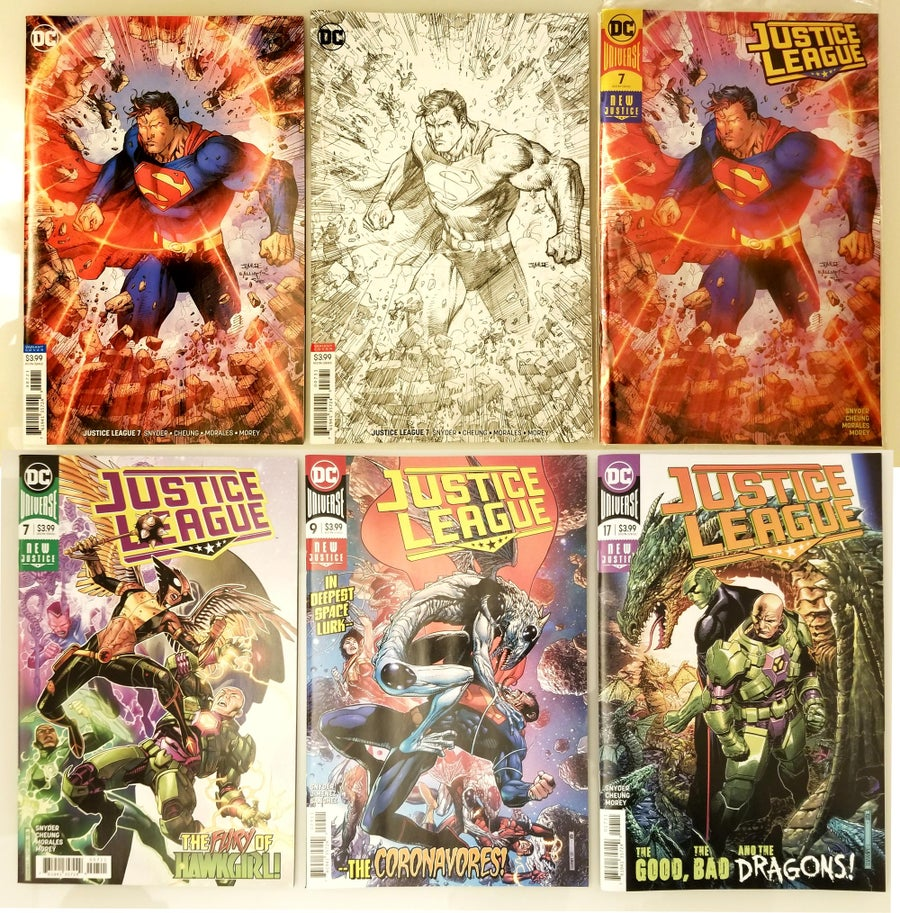 Image of SIGNED COMICS - JUSTICE LEAGUE