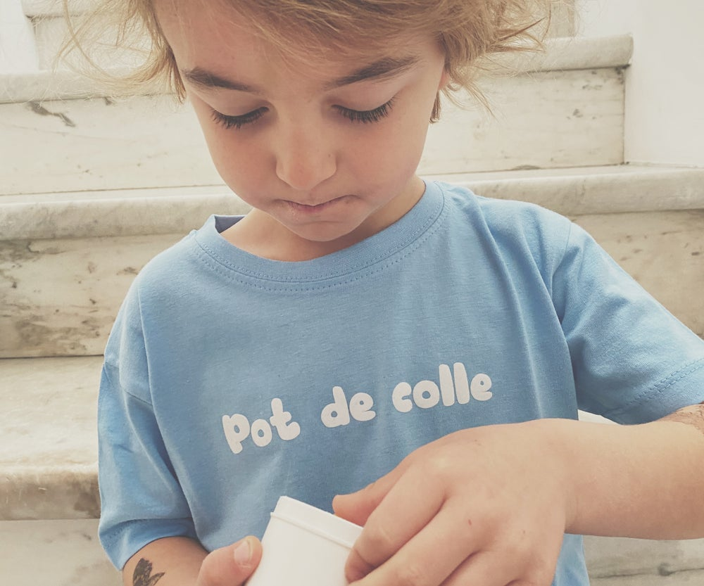 Image of Tee shirt bleu ciel kids
