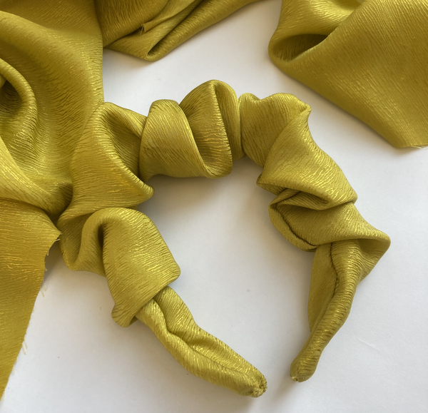 Image of Pre-order-Bring me Sunshine - Chartreuse Yellow- Scrunchy Band
