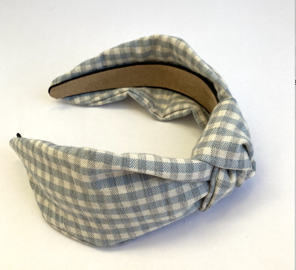 Image of Bluebell Gingham - Knot Headband