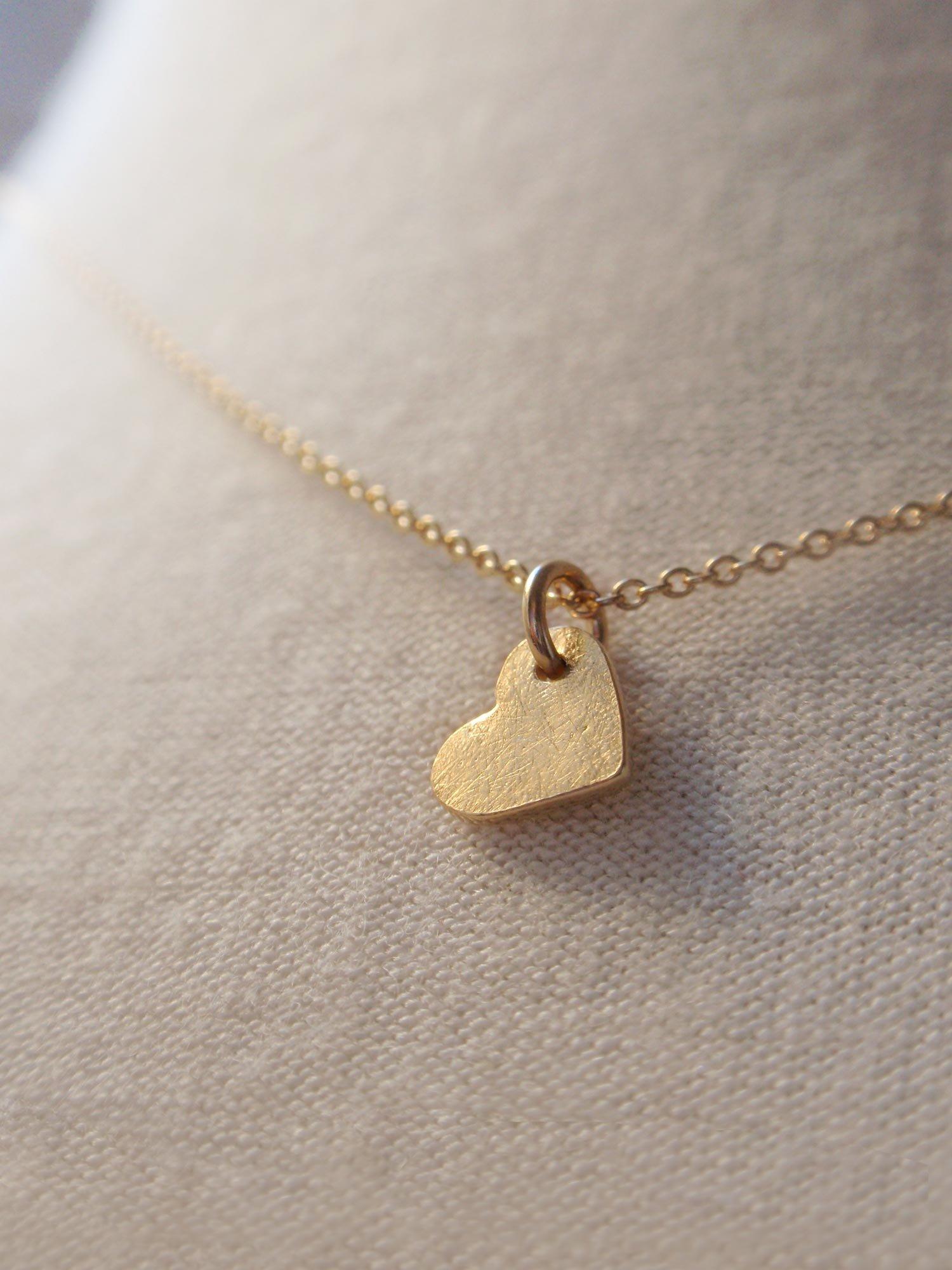 Image of Little Heart Necklace - Golden