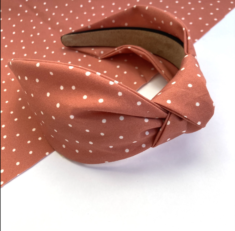 Image of Terracotta Polkadotta - Knot Headband