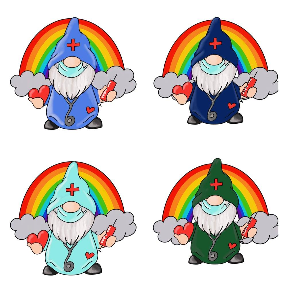 Image of Nurse/Teacher Gnome Mugs