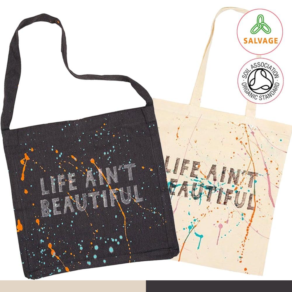 Life Ain't Beautiful Tote Shopping Bag (Organic)