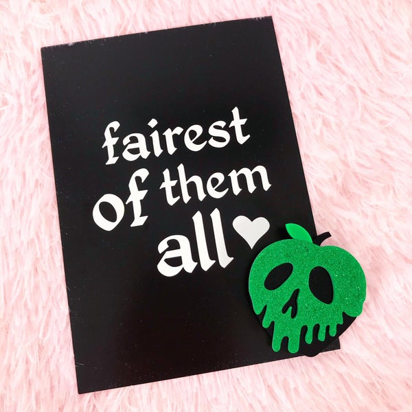 Image of Fairest Of Them All Pin and Postcard Set