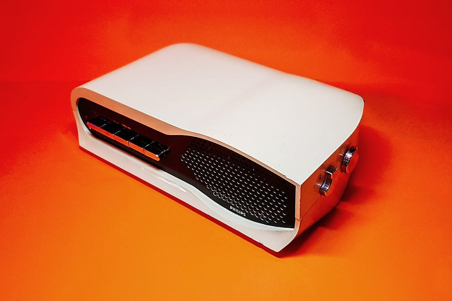 Image of  PHILIPS 19RB222 WHITE (1975) SPEAKER BLUETOOTH