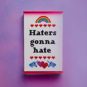 Image of Haters Gonna Hate cross-stitch pattern