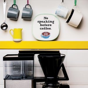 Image of No Speaking Before Coffee cross-stitch pattern