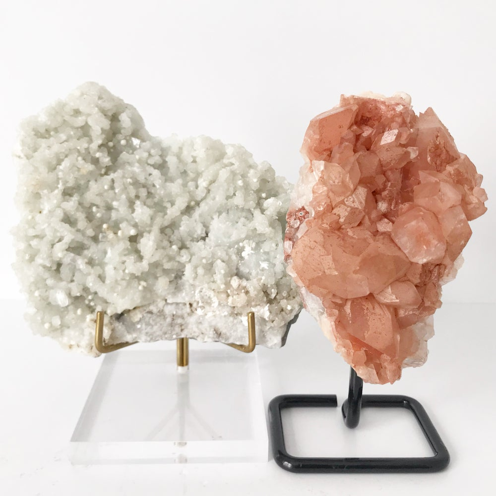 Image of Pink Quartz No.06 + Black Post Stand