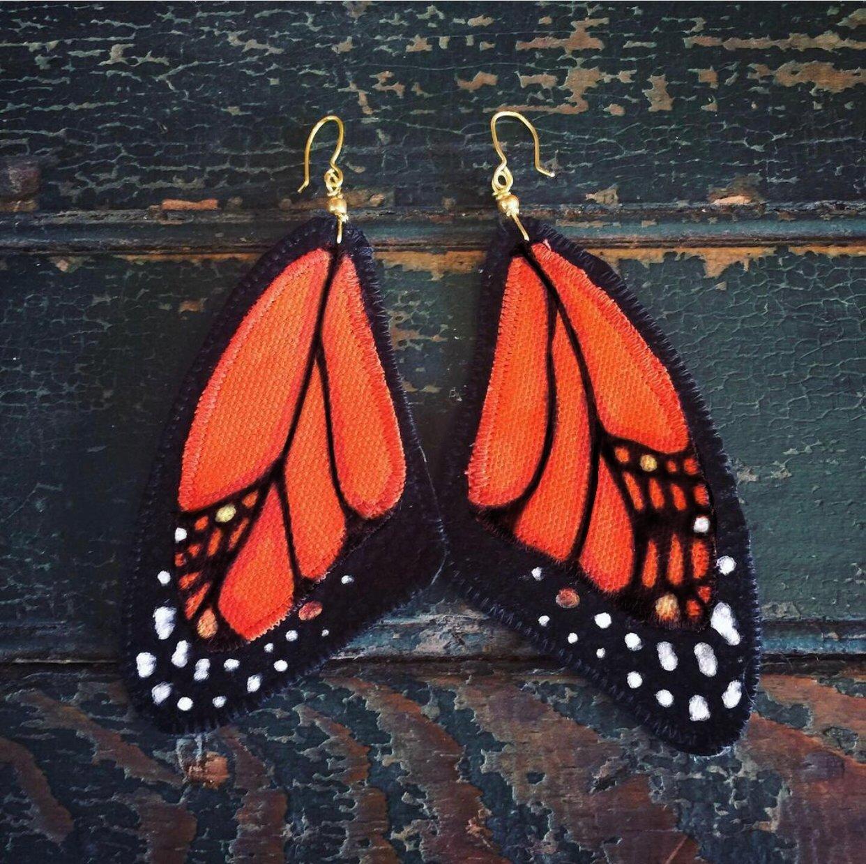 Image of Monarch Butterfly earrings