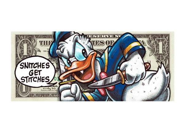 Image of Snitches Donald Limited edition A3 matte archival print.