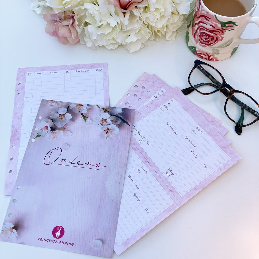 Image of PRETTY ORDER FORM ORGANISER INSERTS -SMALL BUSINESS FM BODYSHOP