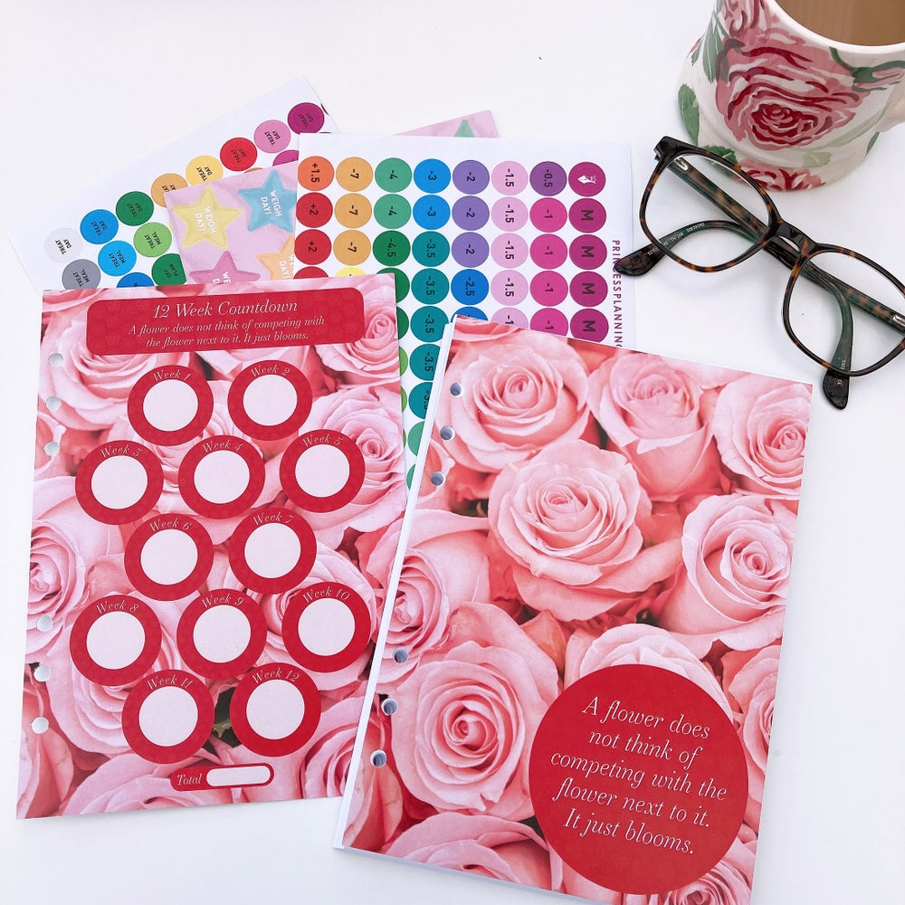 Image of 12 WEEK ORGANISER REFILL FOOD DIARY BUNDLE -A FLOWER DOES NOT COMPETE