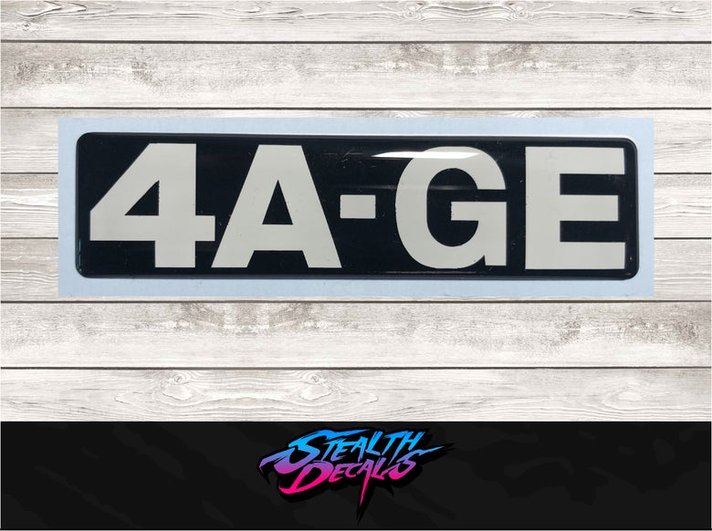 Image of AE86 4A-GE Domed Timing belt cover sticker