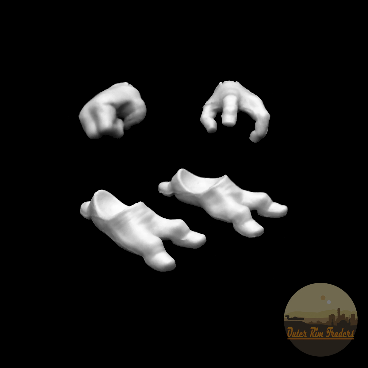 Image of Alien hands and feet