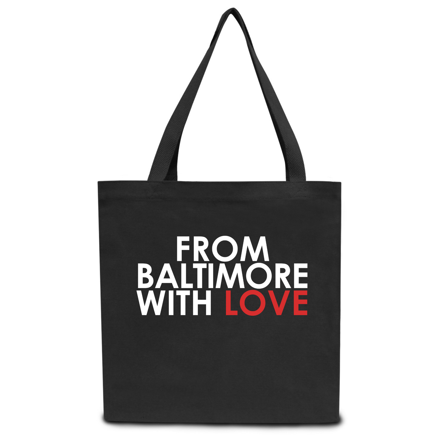 Image of From Baltimore With Love Black Tote Bag