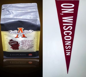 "Image of ""On, Wisconsin"" Coffee // Pennant"