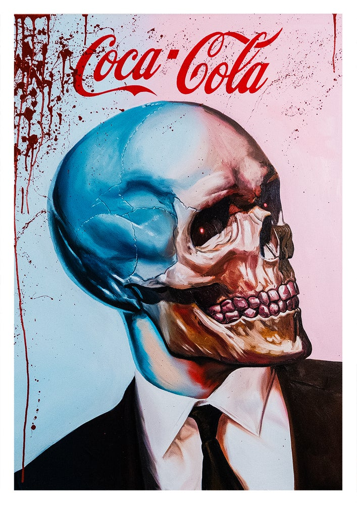 Image of Limited Matte Archival Print. Corporatist Blood And Coke.