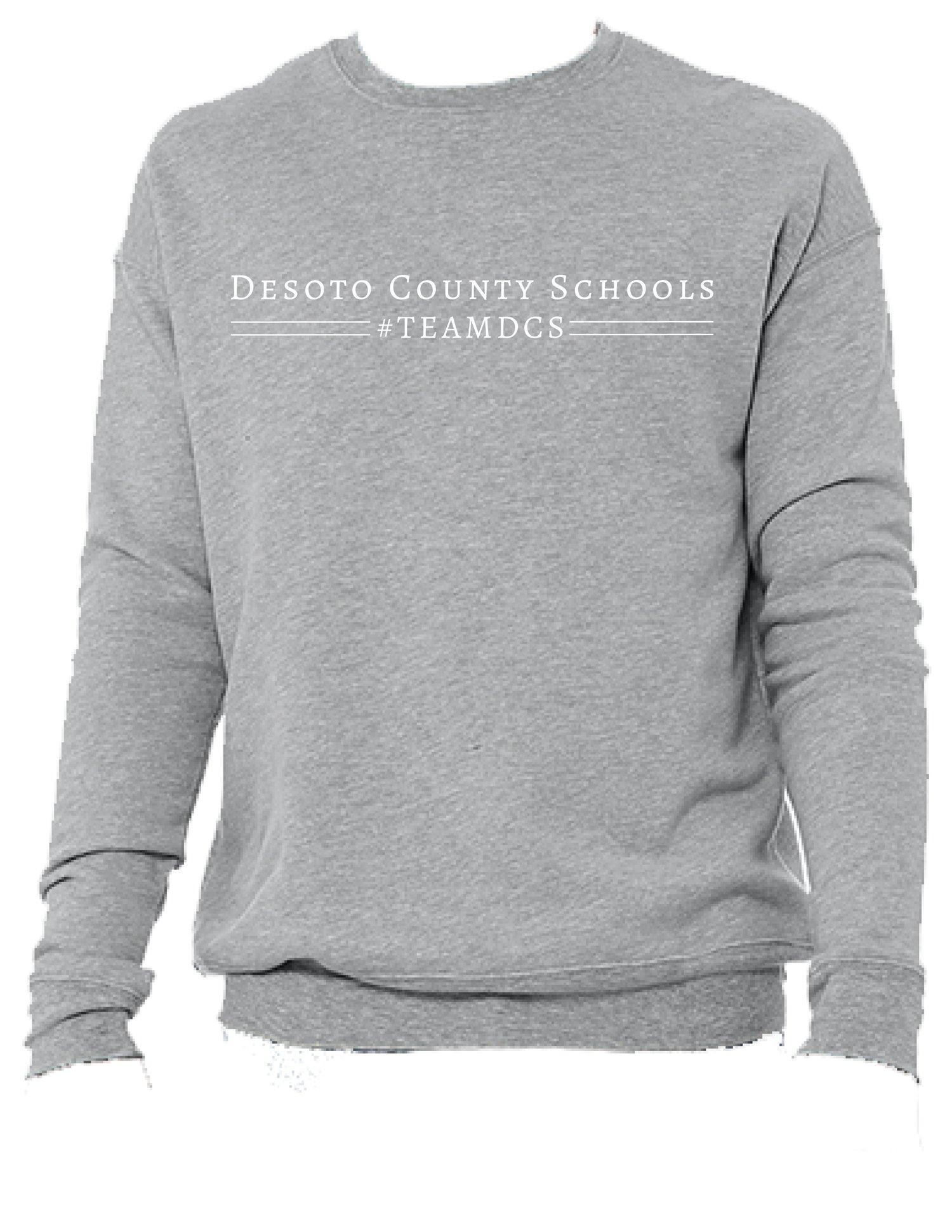 Image of Desoto County Schools #TEAMDCS Sweatshirt- Sport Grey