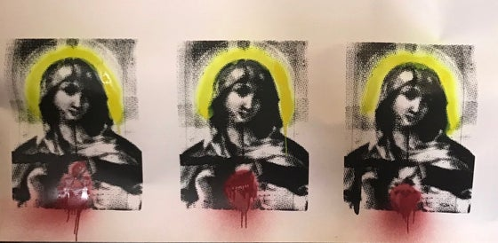Image of Dot Screen Madonna Triptych