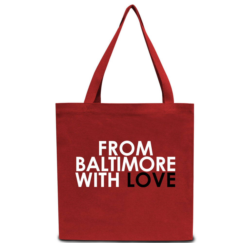 Image of From Baltimore With Love Red Tote Bag